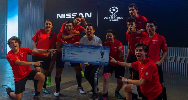 Nissan sends young Mexicans to the UEFA Champions League