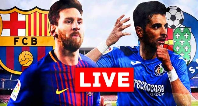 Barcelona vs Getafe La Liga Live Streaming