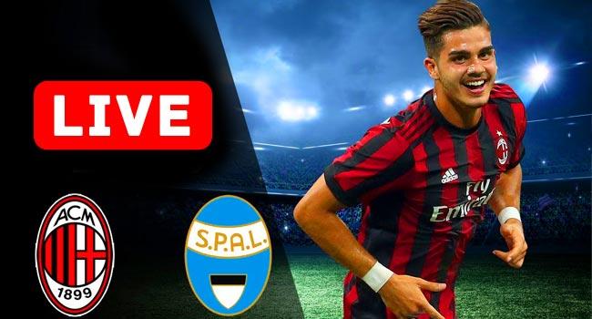 SPAL v Milan Serie A Live Streaming